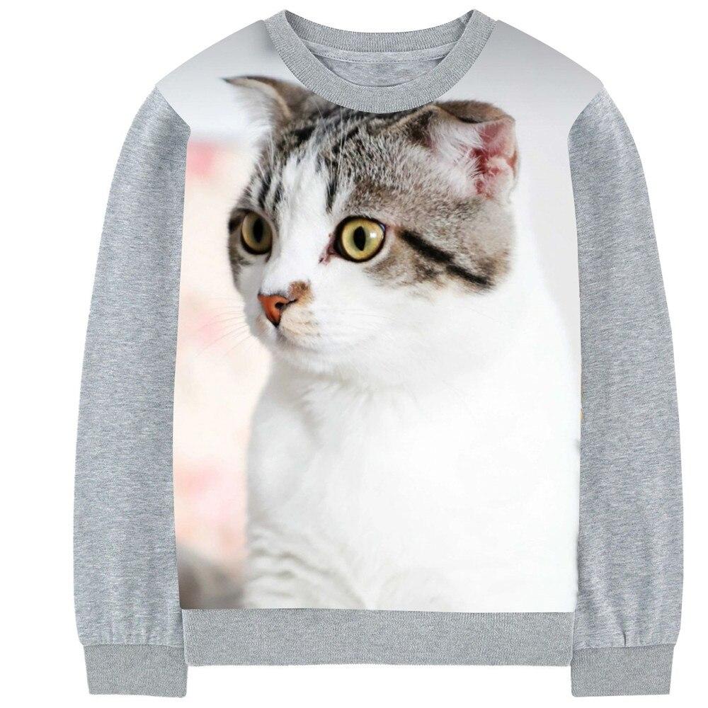 kids Clothes print Cartoon White fat cat boys girls T-shirts Toddler Kids Children Long Sleeve T Shirts 2-10Y