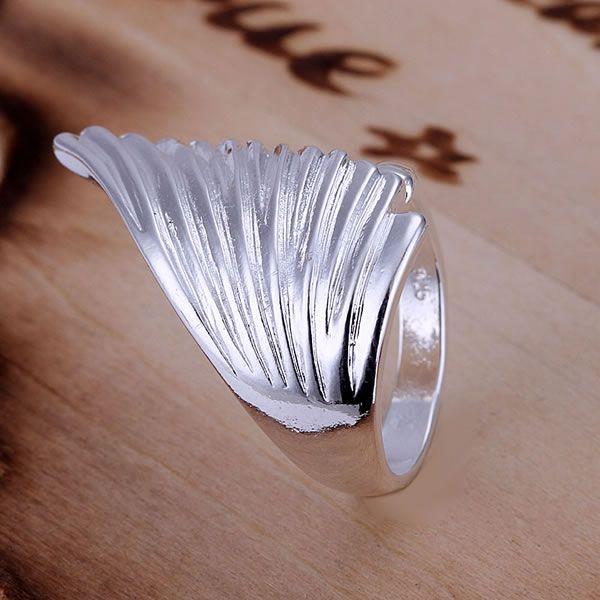 Pojedinačni anđeoski krili protežu se prsten za žene sjajni nakit - Modni nakit - Foto 4