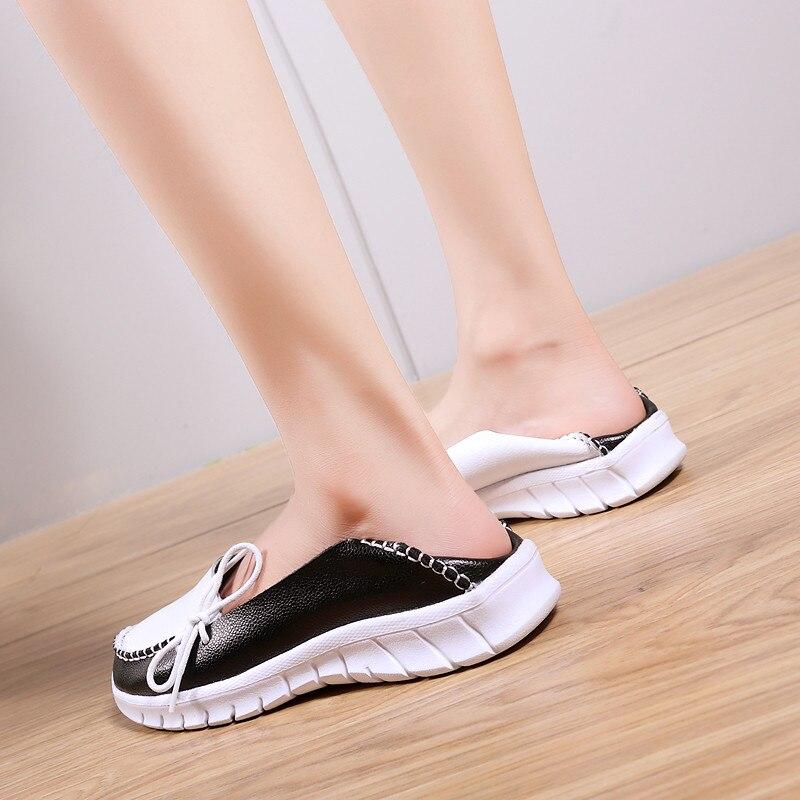 azul Otoño Slipony Mano Hechos Mocasines Genuino On Zapatos Pinsen Planas Planos  Mujer 2019 Calidad Slip De ... 5453acfa0f37