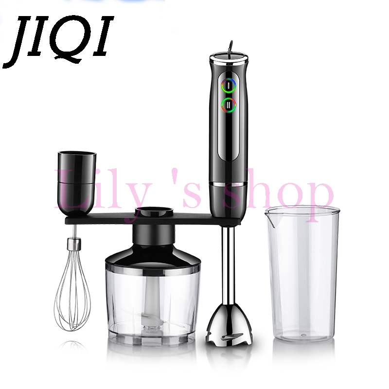 DMWD Multifunction electric hand blender baby food processor Egg Whisk milkshake stand Mixer chopper Juicer Meat Mincer Grinder 220v multifunction electric juicer household meat grinder kitchen food processor tool only with 1 juicer cup