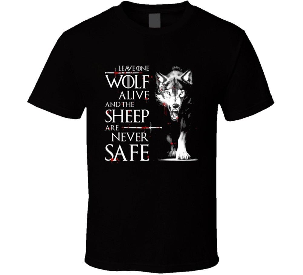 Laissez un loup vivant jeu de trônes Arya Stark t-shirt hommes t-shirt nouveau de nous 100% coton t-shirt, été col rond
