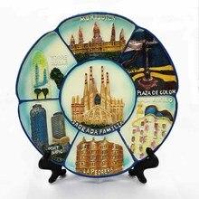 17 см размерный диск декоративная тарелка для знакового здания в Барселона, Испания