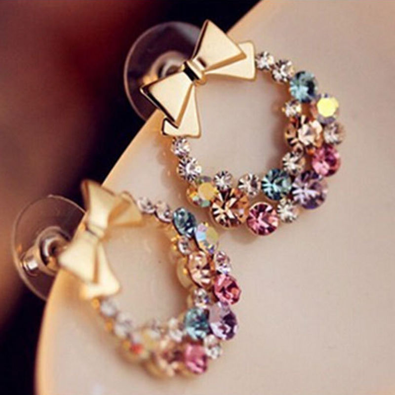 stud korean colourful fun earrings