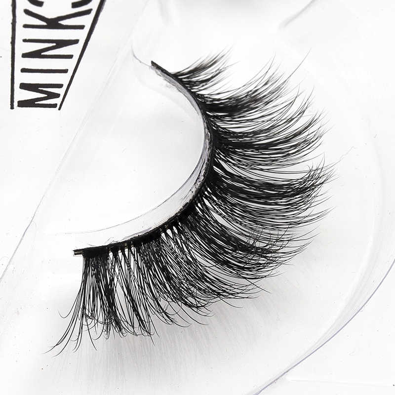 03c3010de40 2018 New Mink Lashes 3D Mink Eyelashes Invisible Band Natural Black Mink  False Eyelash Full Strip