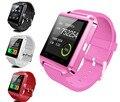 6 cores bluetooth smartwatch smart watch u8 u relógio u80 para ios iphone samsung sony huawei xiaomi telefones android pk gt08 dz09
