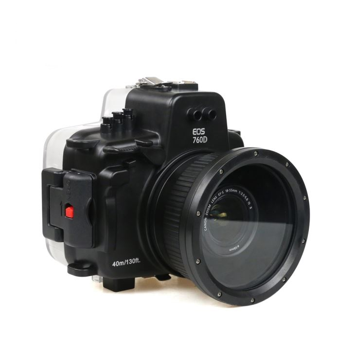 40M 135FT Waterproof Underwater Housing Hard Case for Canon 760D Camera