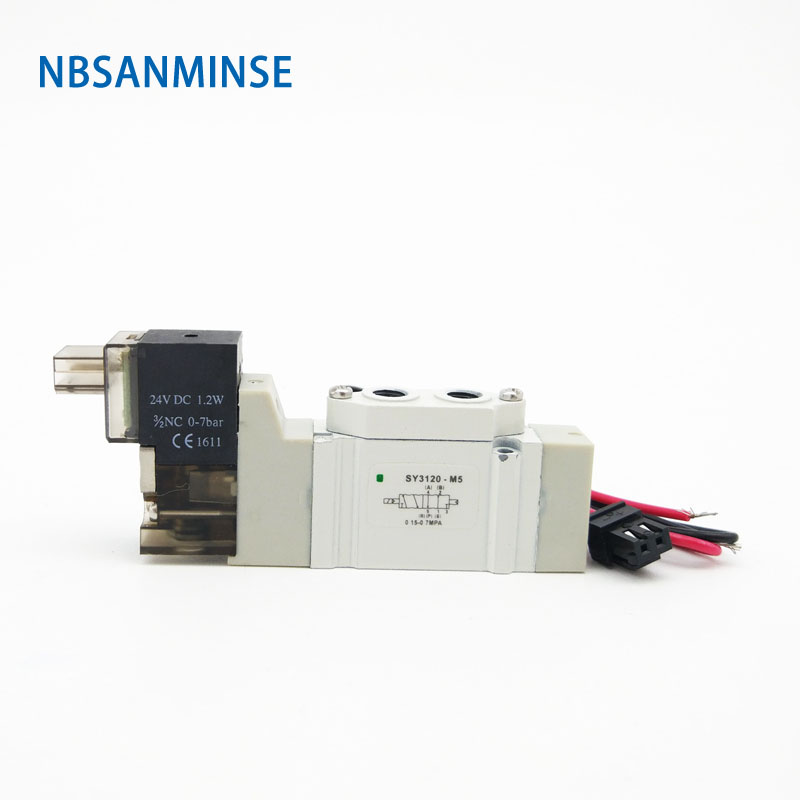 Air Solenoid Valve DC24V AC220V Pneumatic Series 2 Position 5 Way Electromagnetic SMC Similar Type Sanmin