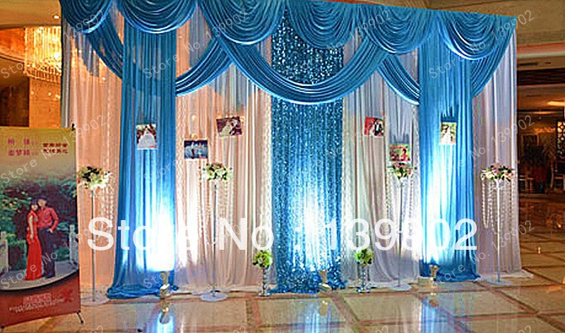 6m 20ft W X3m 10ft H Event Services Stage Curtain Drapes