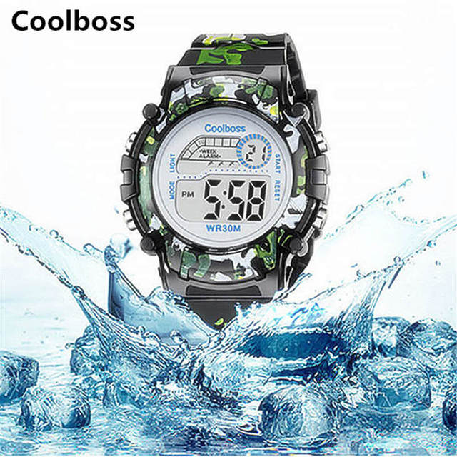 Army Green Camouflage Watch Fashion Children Watches Coolboss Good Quality Brand