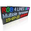 P10 Full Color SMD 32 * 64 pixel LED Display board / digital writing shop LED Advertising sign