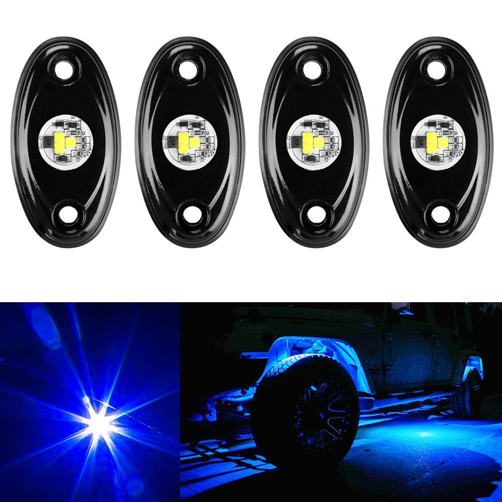 Colorful Car RGB LED Rock Light Kit Off Road ATV SUV Offroad Under Car Lamp Truck Vehicle Crawler Light Rock Lightning For jeep 2pcs lot red led light 25 31mm spst 6pin on off g128 boat rocker switch 16a 250v 20a 125v car dash dashboard truck rv atv home