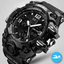 SKMEI Watches Men Analog Quartz Digital Watch 50m Waterproof Sports Watches Men Silicone LED Electronic Watch Relogio Masculino