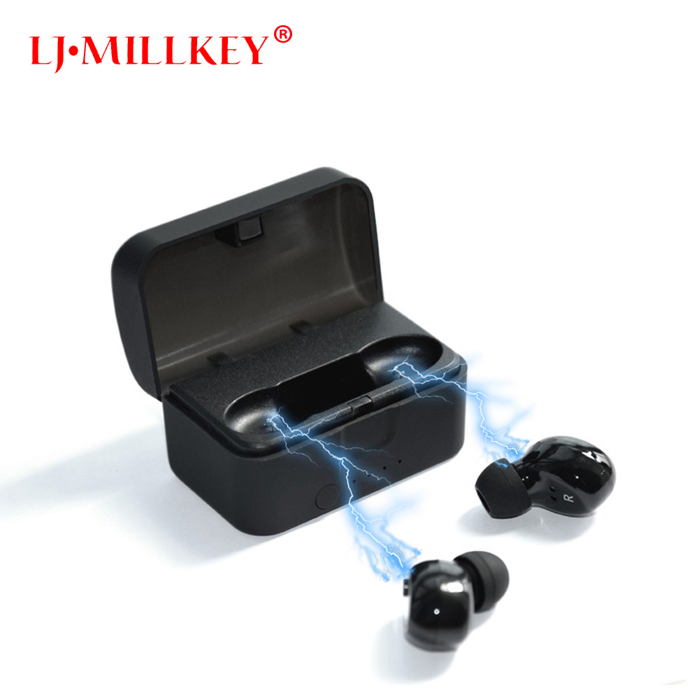 Twins True TWS Wireless Bluetooth Earphone Stereo Mini Two Earbuds Portable Handsfree in Ear With Charging Socket Box Dock YZ139 egrincy x11 mini bluetooth car earphone wireless handsfree in ear headsets usb magnetic charging with usb socket mic for iphone
