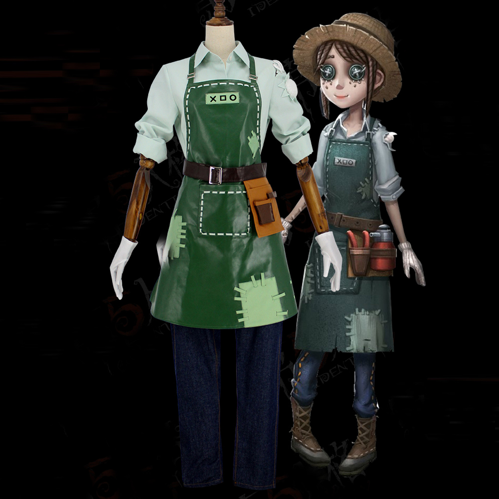 Game Identity V Costume Gardener Farmers Cosplay Costume For Women Uniforms Adult Halloween Carnival Costume Full Set