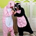 Invierno Unisex Animal Todo En Uno Pijama Polar Establece Homewear Pijamas Trajes de Cosplay Negro Pink Pig Pijama Pijama Oneises