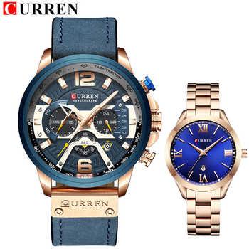 CURREN Lovers Watches Set Brand Women Men Sport Watches Men's Ladies Quartz Clock Casual Military Waterproof Wrist Watch Set - DISCOUNT ITEM  47% OFF All Category