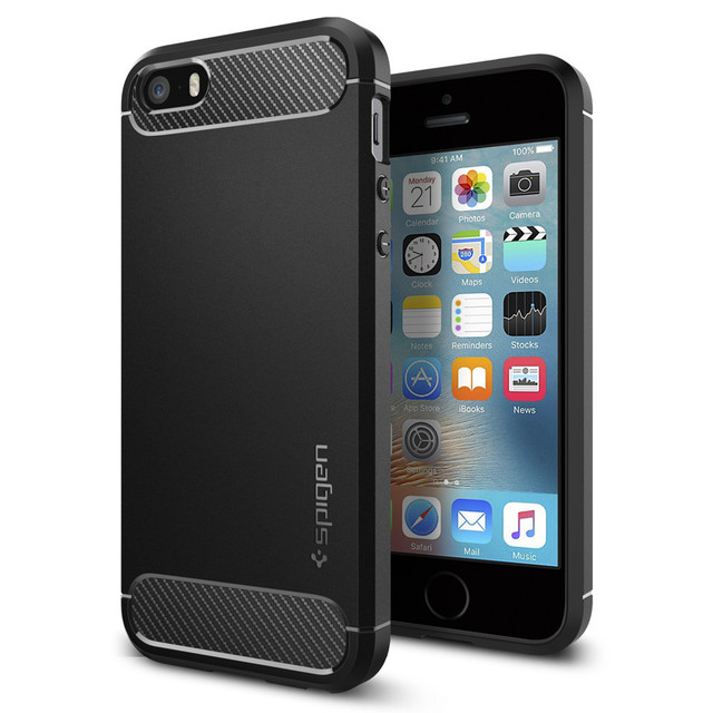 best website 195b8 f89cc US $16.99 |100% Original SPIGEN Rugged Armor Case for iPhone 5S / SE / 5-in  Fitted Cases from Cellphones & Telecommunications on Aliexpress.com | ...