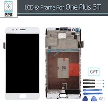 Original Handy LCD screen für Oneplus 3 T A3010 LCD Display eins plus 3 T Lcd-bildschirm Panel Montage mit Rahmen Geschenk werkzeuge