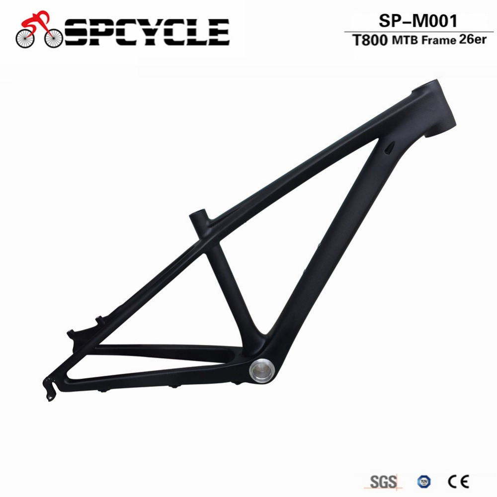 Spcycle Ultralight T800 Carbon MTB Frame 26er 14inch Carbon Mountain Bike Frame 3k Matte 135*9mm Standard QR Bicycle Frame стоимость