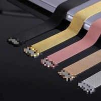 Bracelet milanais de marque supérieure pour montre apple 4 iwatch Band 38mm 42mm 40mm 44mm Bracelet en acier inoxydable ceinture pour montre apple 3