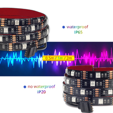Waterproof Colorful LED Strip Light with Remote Music Control
