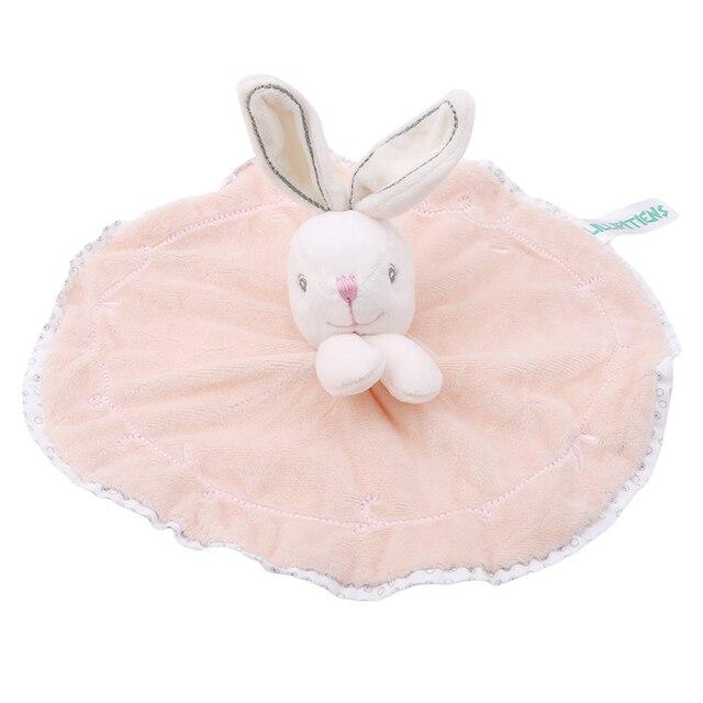 Милое детское погремушка кролик успокаивающее полотенце детские плюшевые игрушки для младенцев очень мягкое защитное покрывало сон друг плюшевый Игрушечный Кролик игрушки