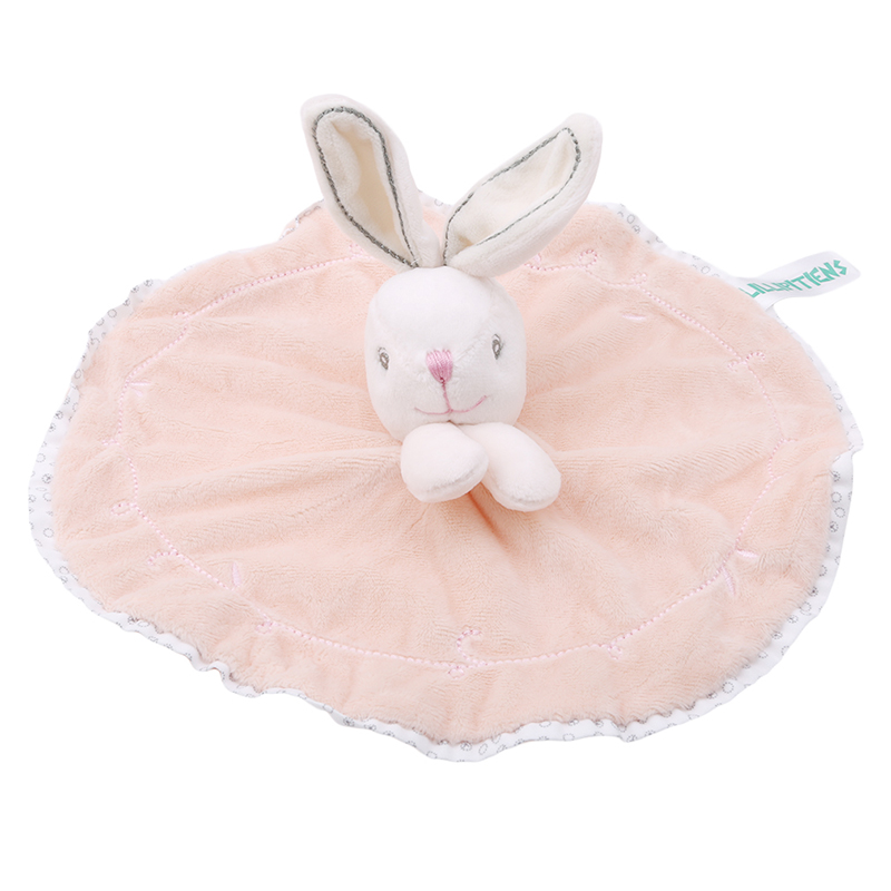Cute Baby Rattle Bunny Soothing Towel Baby Plush Toys Infant Very Soft Security Blanket Sleep Friend Plush Rabbit Doll Toys