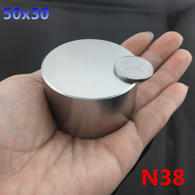 1pc N38 magnet 50x30 mm hot round magnets 50*30mm Strong magnets Rare Earth Neodymium Magnet 50x30mm wholesale 50*30 wholesale 1pcs 30mm x 30mm craft model strong rare earth ndfeb magnet 30 30 mm neodymium n52 fridge magnets round sheet