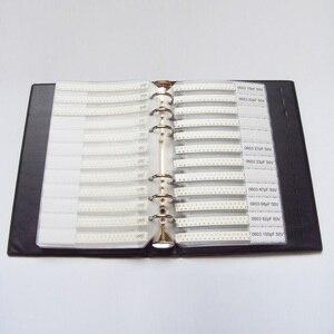 Image 3 - Darmowa wysyłka 0603 SMD próbki książki 37 wartości 1875 sztuk zestaw rezystorów i 17 wartości 600 sztuk zestaw kondensatorów