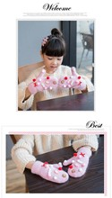 GLV842 winter thickening velvet children warm font b gloves b font girl children rabbit fur fingerless