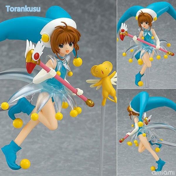Sakura Card Captor Action Figure Cardcaptor Magic Girl Sakura Figma PVC Figure Toy 140mm Anime Sakura Collectible Model Doll