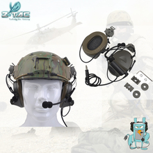 Element Z-TAC Z031 Comtac II Headset With Peltor Helmet Rail Adapter Set For FAST Helmets Military Airsoft Tactical Headphone цена