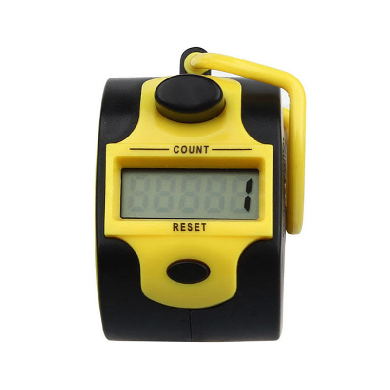 MAHA Top Mini 5 Digit Electronic LCD Display Digital Hand tally counter Yellow