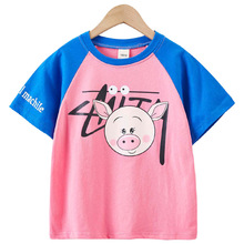 new summer foreign gas women's clothing Bottom shirt children  of fashionable summer clothes female big girl tide T-shirt 4T-14T shirt gas shirt