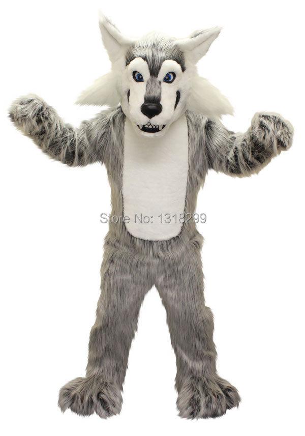 mascot Wolf mascot costume grey plush coyote wolf fancy dress custom fancy costume cosplay theme mascotte carnival costume kits
