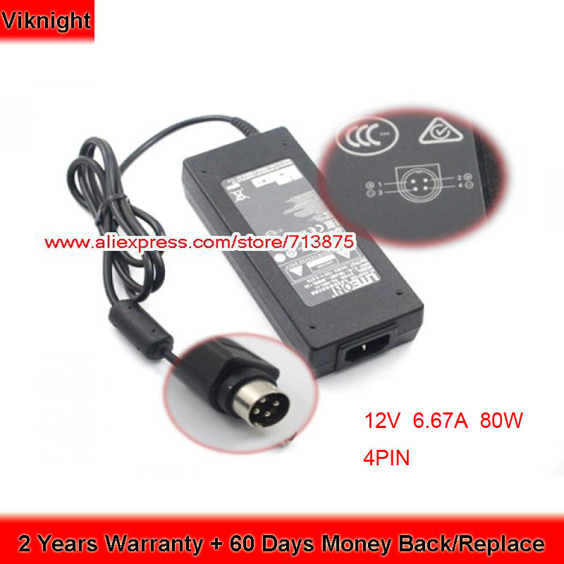 Liteon Adapter 12V 6 67A PA 1081 11 for Asus PW201 Lcd Monitor 4Pin Power Supply