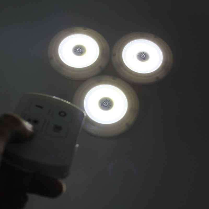Ночной светильник с регулируемой яркостью светодиодный светильник для шкафа с пультом дистанционного управления на батарейках светодиодный светильник s для шкаф для одежды ванная настенная лампа