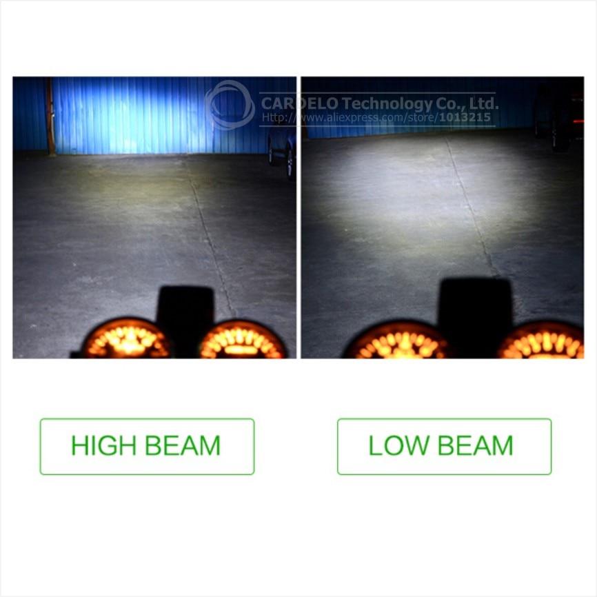2017 m. COB LED motociklai DC6-80V motociklų priekiniai žibintai H4 - Motociklų priedai ir dalys - Nuotrauka 5