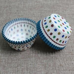 Image 5 - 100PCS 머핀 종이 컵케잌 래퍼 베이킹 컵 케이스 머핀 상자 케이크 컵 장식 도구 주방 케이크 도구