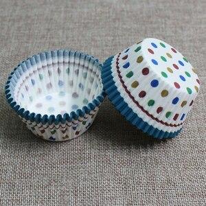 Image 5 - 100Pcs Muffins Papier Cupcake Wrappers Bakselkoppen Gevallen Muffin Dozen Cake Cup Decorating Gereedschap Keuken Cake Gereedschappen