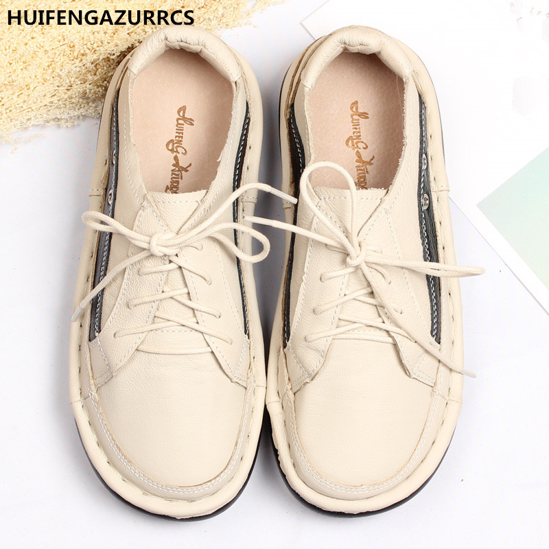 HUIFENGAZURRCS-Hot Genuine leather cowhide shoes pure handmade shoes, the retro art mori girl shoes,Women's casual shoes,3 color huifengazurrcs 2018 new spring mori girl soft bottom leisure shoes genuine leather handmade shoes japanese retro shoes 4 colors