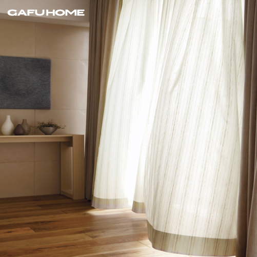 Hot Sale Ready Made Curtain For Living Room Stripe