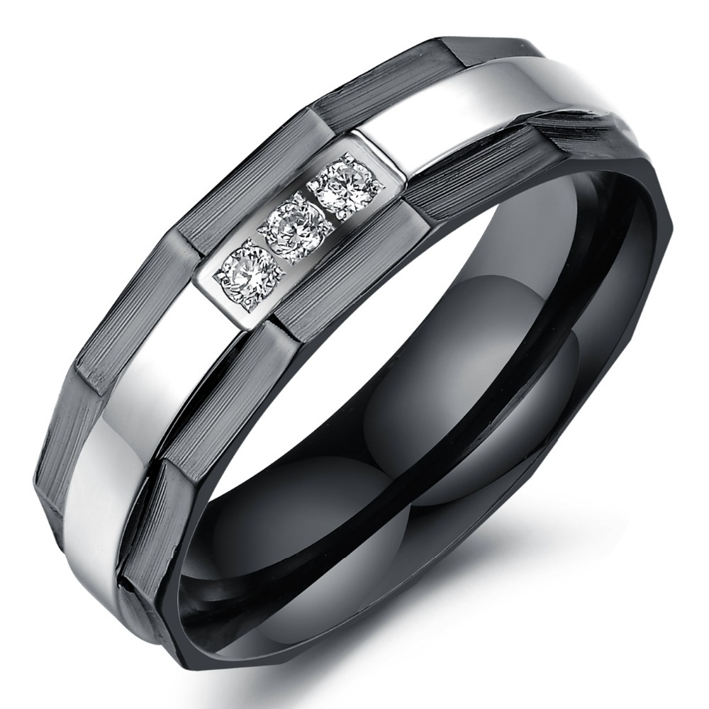 aliexpresscom buy trustylan one piece price new his and hers promise ring sets fashion black wedding rings for men and women stainless steel ring from - Black Wedding Rings Sets