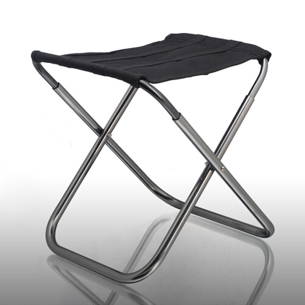 Portable Folding Aluminum <font><b>Chair</b></font> Outdoor Stool Seat Fishing Camping Travel Picnic