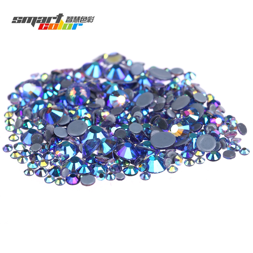 Black Diamond AB Flatback Round Glass Iron On Strass Stone Hotfix Rhinestones With Glue Backing Nail Art Garment Decorations gitter 2 6mm citrine ab color resin rhinestones 14 facets round flatback non hotfix beads for 3d nail art decorations diy design