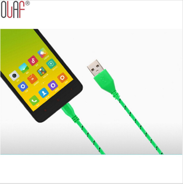 Olaf 1M/2M Nylon Braided Micro USB Cable, Charger Data Sync USB Cable Cord For Samsung Galaxy Cell phones 10 Colors