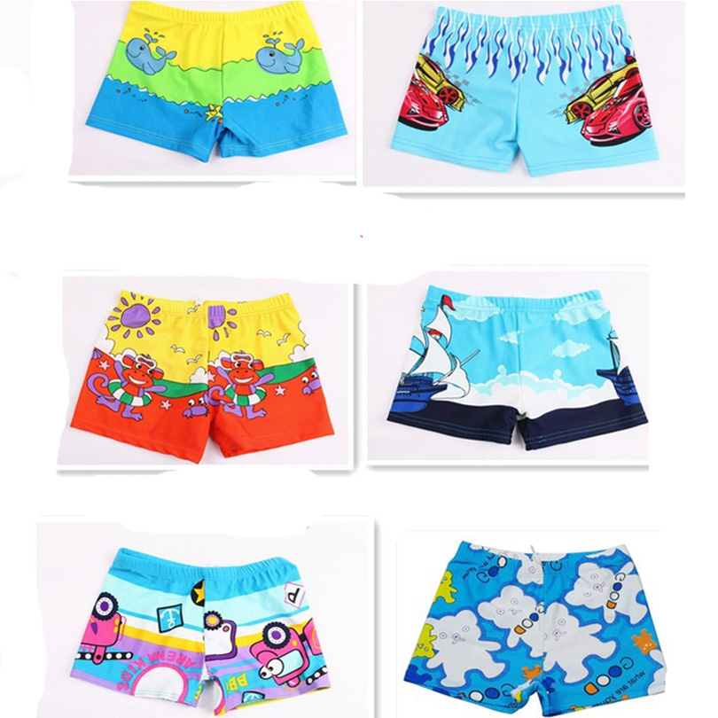 One Pieces Kid Children Boys Cartoon Print Stretch Beach Swimsuit Swimwear Pants Shorts Swimwear Kids Boy Trunks Color At Random