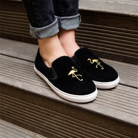 Spring Autumn Women's Flat Shoes High Quality Fashion Comfortable Inner Shoes Round Toe Exquisite Embroidery Shoes Women