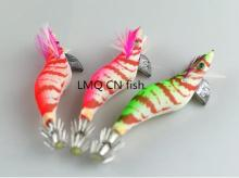Hot 4pc/lot orange Fishing lures Exported to Japan New design 3.0# Squid Jigs Hook Free shipping