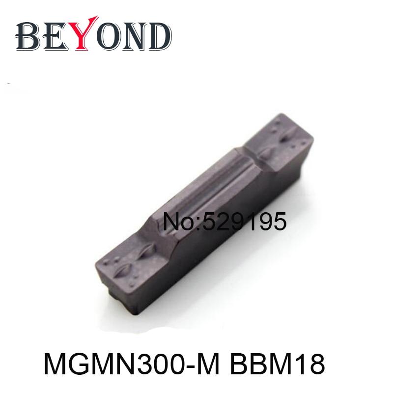 BEIOND 10 vnt MGMN300-M BBM18 MGMN 300 pertraukiamas nerūdijančio plieno pjovimas Karbido intarpai, griovimo tekinimo įrankiai, CNC tekinimas